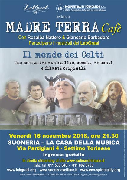 Madre Terra Cafè alla Suoneria di Settimo - Venerdì 16 novembre 2018, ore 21.30