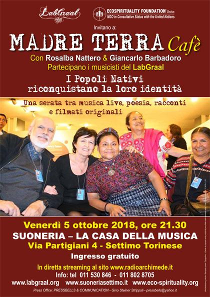 Madre Terra Cafè alla Suoneria di Settimo - Venerdì 5 ottobre 2018, ore 21.30