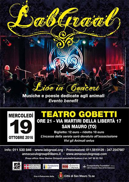 LABGRAAL live al TEATRO GOBETTI 19 ottobre 2016